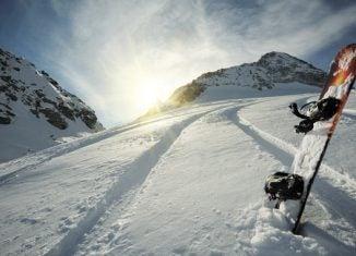 Ski Berg Sonne Schnee