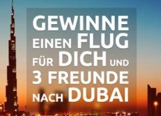 Gewinnt einen Emirates-Flug für 4 Personen nach Dubai