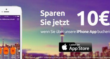 Bucht über die Opodo iPhone App und spart 10 Euro!