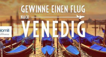 Gewinnt einen Flug für zwei Personen nach Venedig!