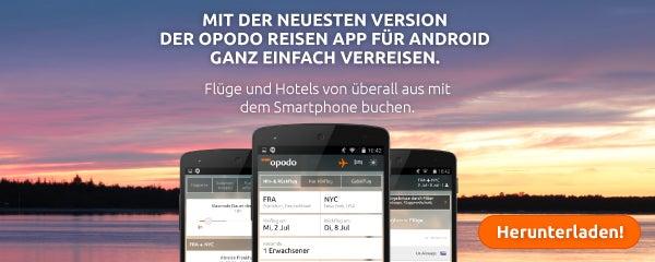 Opodo Reisen App für Android