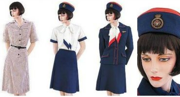 Stewardess Kostüme aus den 1970ern