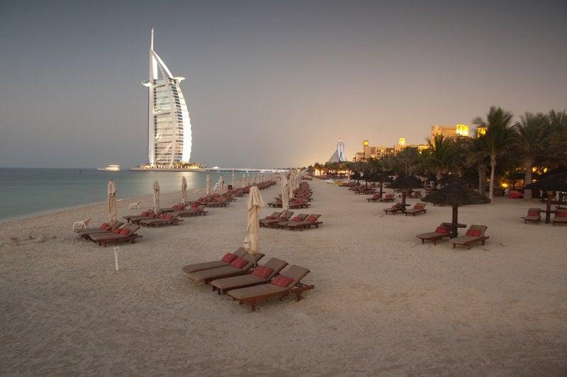Städte mit Strand Dubai Burj al Arab