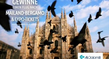 Gewinnt einen Flug für 2 nach Mailand-Bergamo!