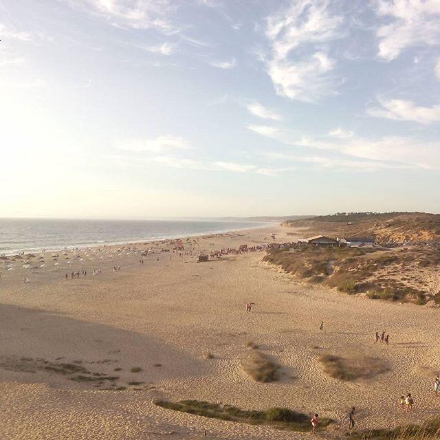 praia do meco, portugal, alfarim, strand, atlantik, dünen