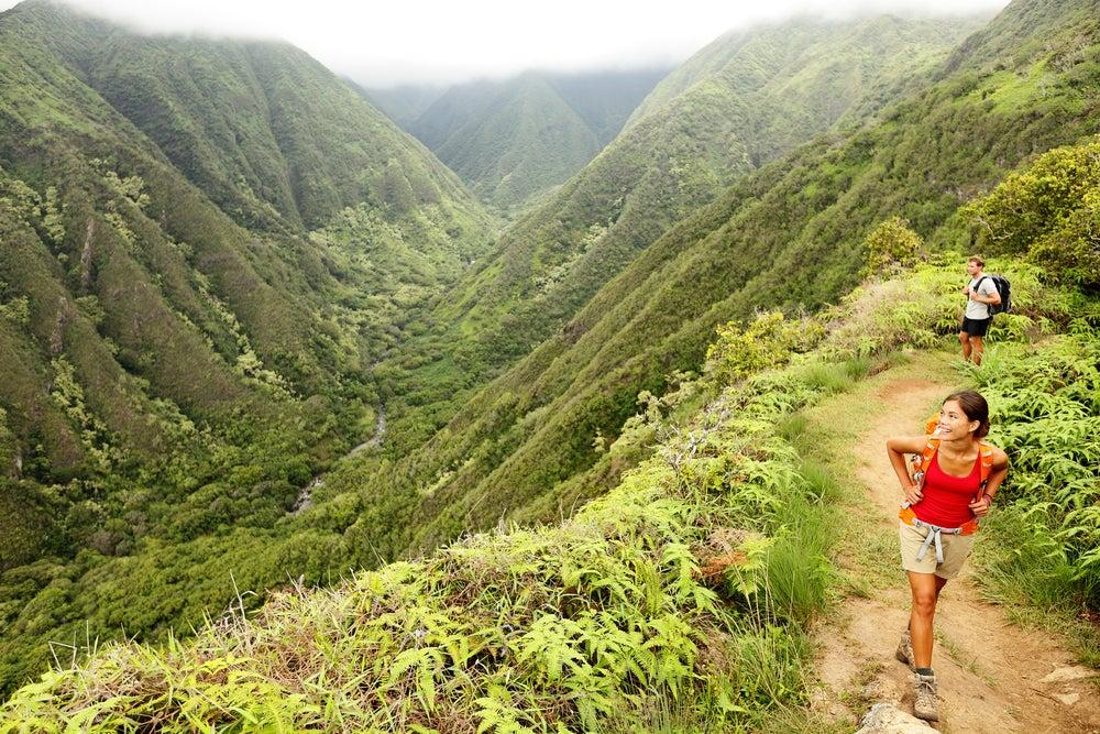 maui, waihee ridge trail, hawaii, wandern, berge, grün