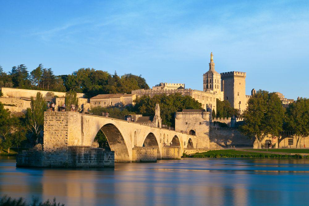 avignon, brücke, sur-le-pont-d'avignon, rhone, papstpalast, altstadt