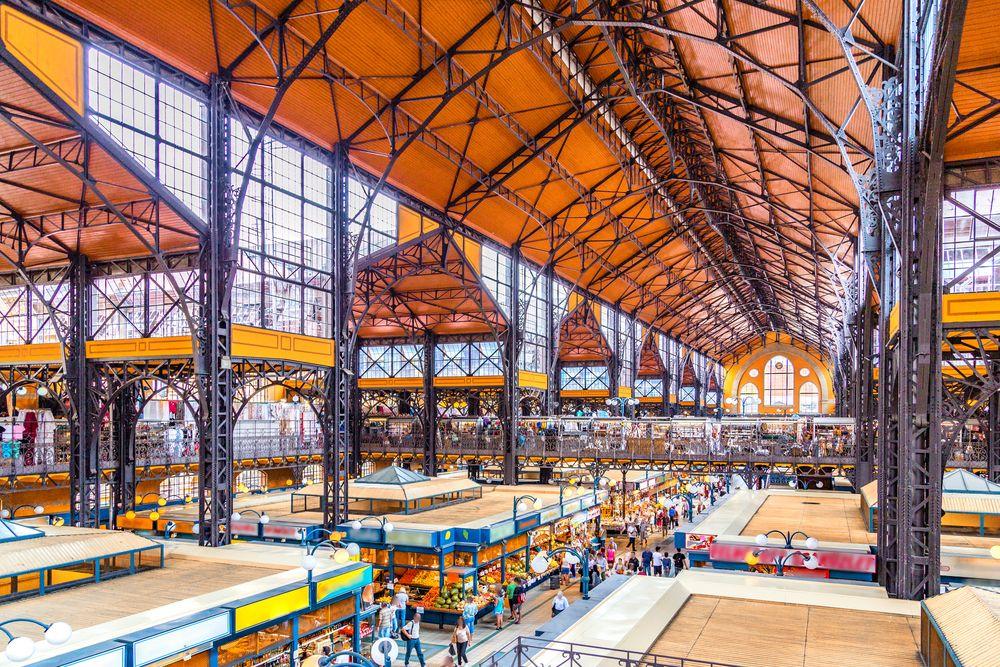 Schöne-Städte-Europa-Budapest-Markthalle