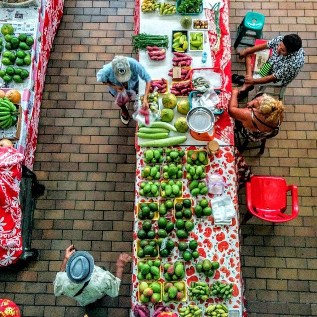 was kann man auf tahiti machen, papeete markt