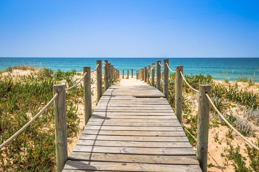 faro, algarve, portugal, strand, atlantik
