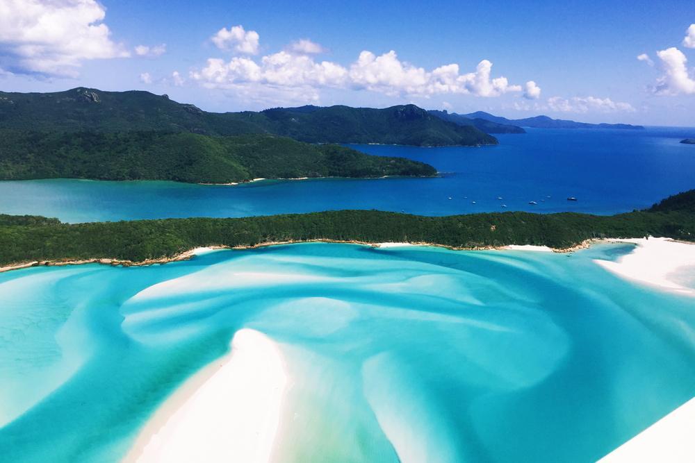 die schönsten pazifik inseln, whitsunday islands, whitehaven, australien