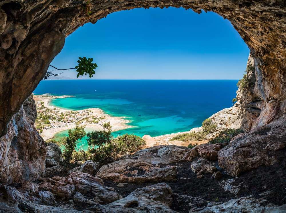 kreta, mittelmeer, höhle
