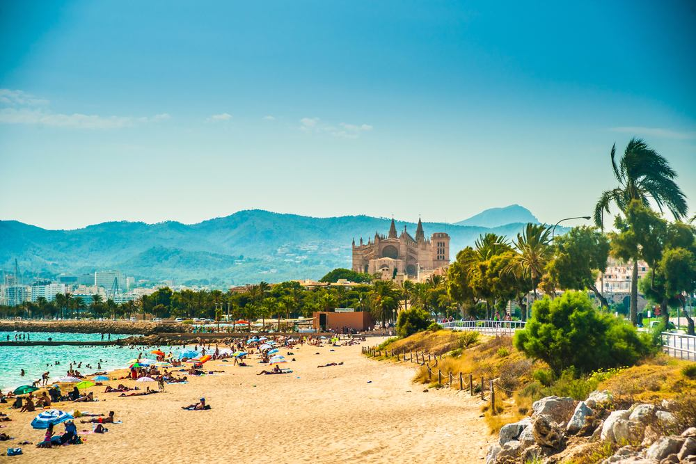 top 10 der beliebtesten urlaubsziele 2019, mallorca, palma de mallorca, strand