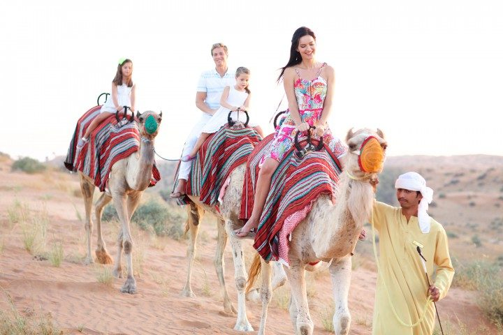 ras al khaimah kamelreiten wüste