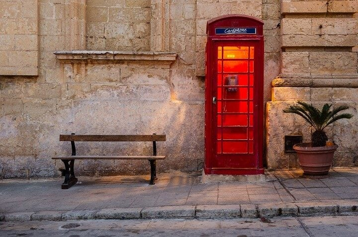 cabine téléphonique Malte - blog Opodo
