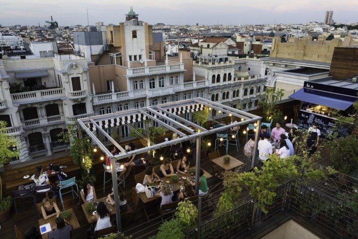 die besten rooftop bars in madrid