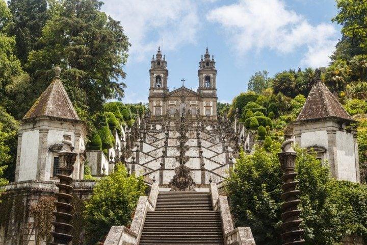 braga, bom jesus do monte, wallfahrtskirche, portugal