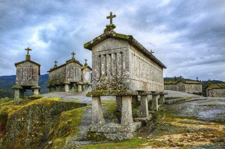 soajo, portugal, historische getreidespeicher