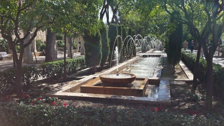 park in der altstadt von palma de mallorca