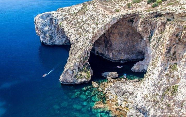 malta urlaub, blaue grotte
