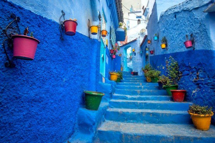 Marokko Urlaub, Chefchaouen, blaue Stadt