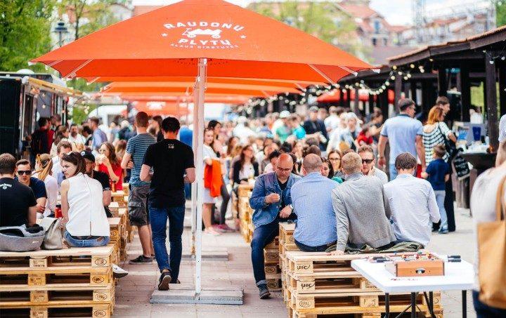 Vilnius, Streetfood Markt,