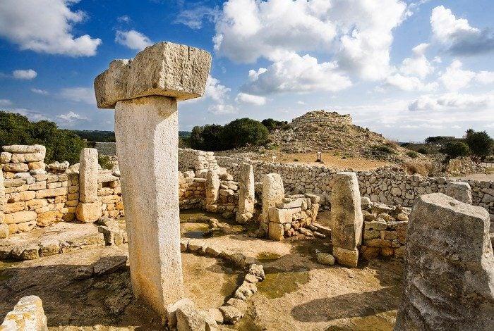 Menorca Urlaub, Torralba d'en Salord, archäologische Stätte auf Menorca