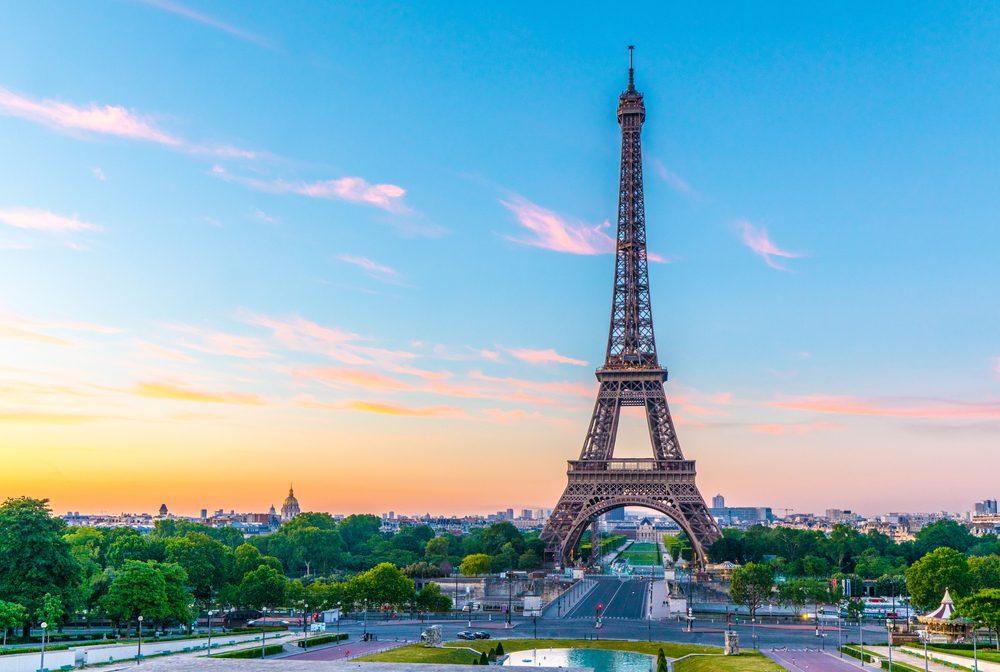 Paris, Eiffelturm, Sonnenaufgang